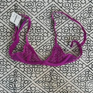 NWT Free People Mesh Underwire Bra